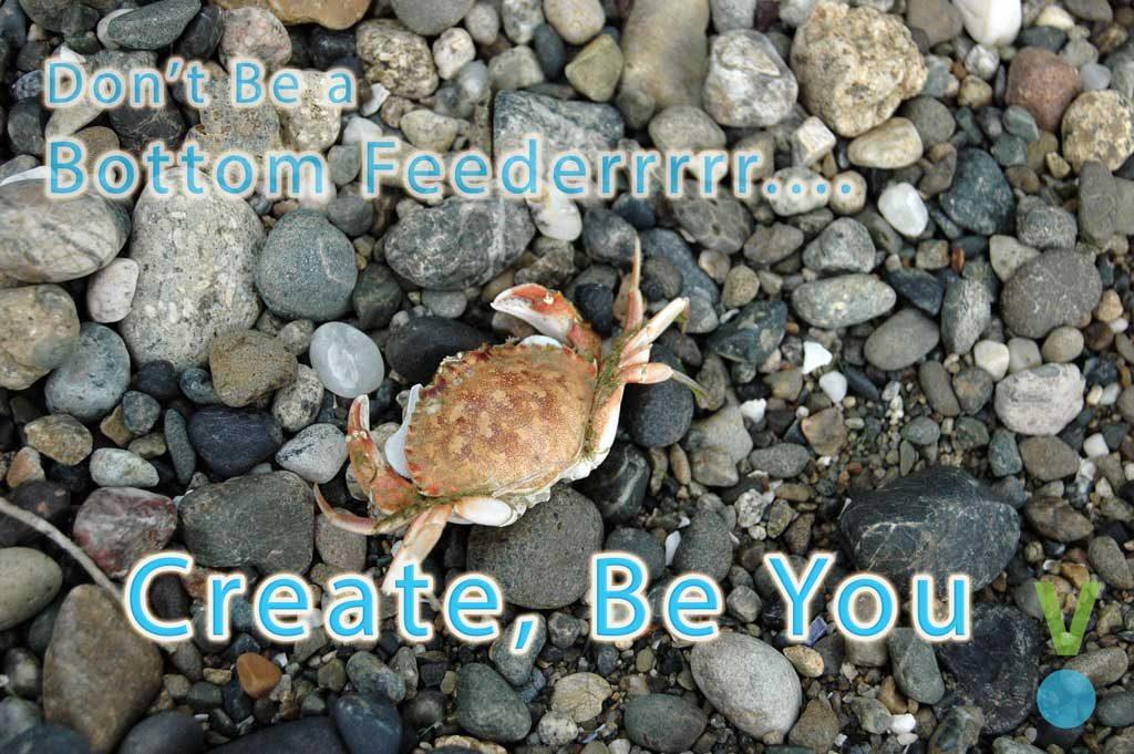 Create, don't be a bottom feeder